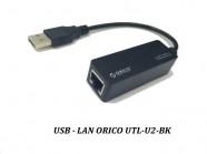 Card mạng usb 2.0 sang lan 10/100Mbps Orico UTR-U2-BK