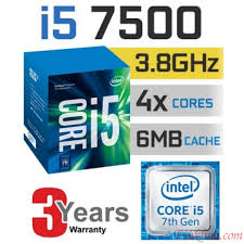 CPU Core I5 - 7500 (3.4 GHz)