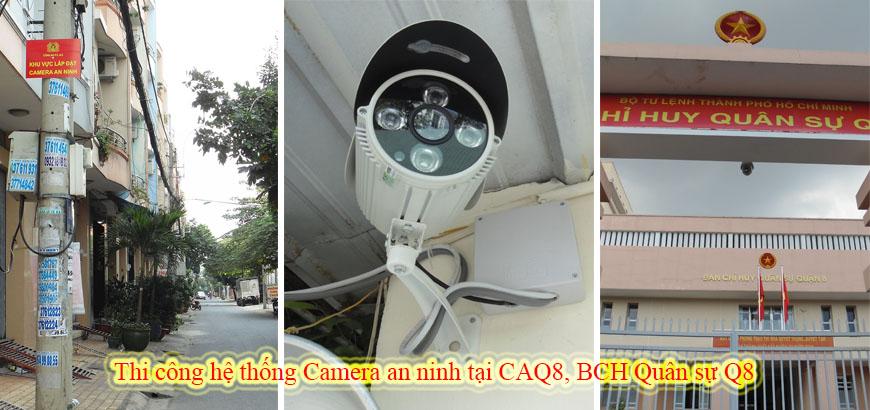 Thi công hệ thống Camera an ninh tại CAQ8, BCH QS Q8